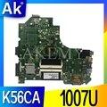 Bilgisayar ve Ofis'ten Anakartlar'de K56CA Anakart ASUS S550C K56CM K56CB S56C K56C Laptop için 1007 İşlemci K56CA Anakart K56CA Anakart anakart