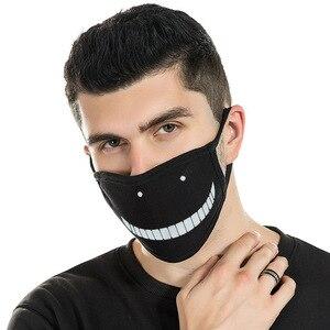 Image 2 - Мультяшная мультяшная маска для лица с изображением жареного цыпленка, прохладная маска для верховой езды, Пыленепроницаемая, милая нейтральная/для мужчин и женщин