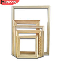 HUACAN DIY Photo Frame Oil Painting By Number Accessories Inner Frame Wood Frame For Oil Painting Canvas Factory Direct Sales(China)