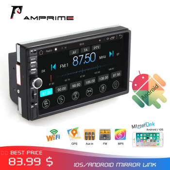 AMPrime 2 din Android Car Radio 7'' 2din MP5 Player Car Multimedia Player Autoradio GPS WIFI Car Stereo Radio For Volkswagen image