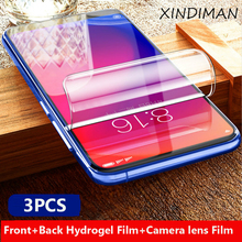 3PCS Front+Back hydrogel Film for xiaomi Redmi K20 K20pro Camera lens film redmi protective Glss
