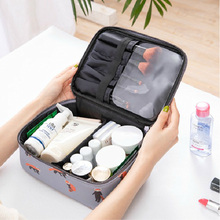 PU Cosmetic Bag Portable Waterproof Makeup With Animal Pattern Women Travel Cosmetics Organizer secure Bags Handbag