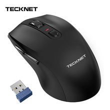 TeckNet 4800DPI USB Optical Mobile Wireless Mouse 2.4G Receiver Ergonomic Mice 6 Button Mouse for Laptop PC Computer