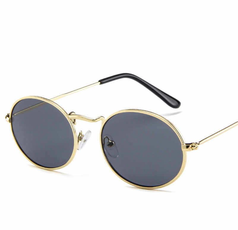 Lucu Seksi Retro Oval Kacamata Wanita Emas Kecil Hitam Vintage Retro Berjemur Kacamata Perempuan Merah Kacamata untuk Wanita Sopir Kacamata