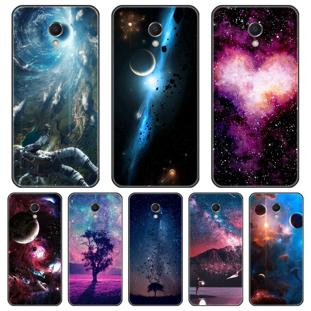 Soft TPU Case For Meizu M2 M3 M3S M5 M5C M5S M6 M6S M6T Black Star Space Silicone Phone Cases For Meizu M6 M5 M3 M2 Note Cover