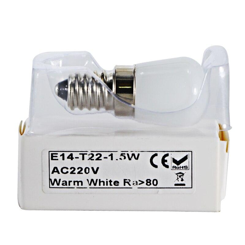 Купить с кэшбэком ampoule led bulb light T22 B15 E12 E14 12v 110v 220v 1.5W mini spotlight Refrigerator Fridge Lights frosted shell 12 volts lamp