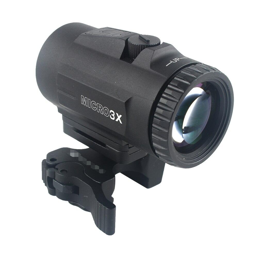 Vue tactique de portée de loupe de MICRO 3X avec le commutateur au support latéral de QD pour des vues holographiques de point rouge
