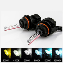 цена на 1Pair H4 Bi Xenon HID AC 55W Bixenon Car Headlight Bulb Replacement H4-3 Lamp Hi/Lo 12V 3000K 4300K 5000K 6000K White