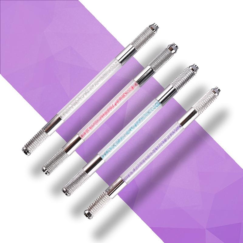 Crystal Transparent Double-head Pen Dual-use Semi-permanent Pen Tattoo Fog Eyebrow Pencil