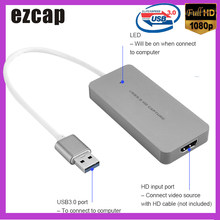 Ezcap USB 3.0 HD Capture Card Device Video Game Recorder 1080P Live Sreaming Converter Plug and Play for XBOX One PS3 PS4 WII U(China)