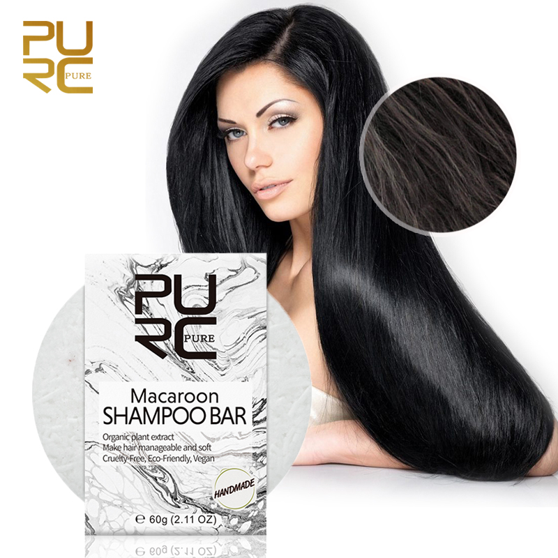 Hair Cleanser Macaroon Shampoo Bar For Children Or Chemically Treated Hair Smell Coconut Make Hair Manageable Conditio Soap Bar