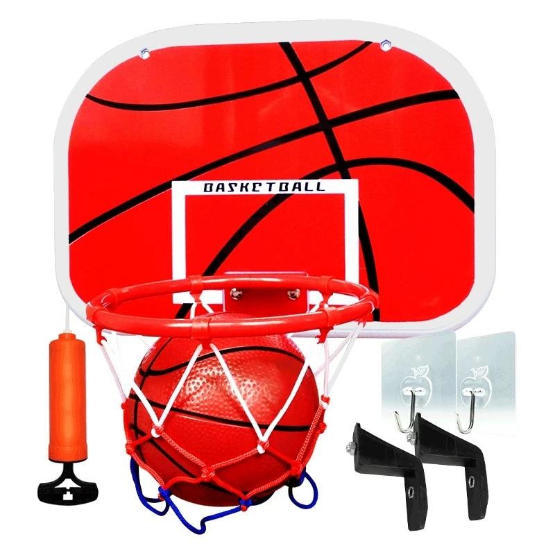 Kids Hanging Basketball Hoop Indoor Basket Ball For Door Mini Basketball Board Family Basket Children Game Basketball Toy Set