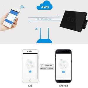 Image 2 - UNS WIFI Smart Touch Schalter 1 2 3 4 Gang Wand Licht Drahtlose Fernbedienung Schalter 220V 1 2 3 weg Tuya Smart Home Alexa Google