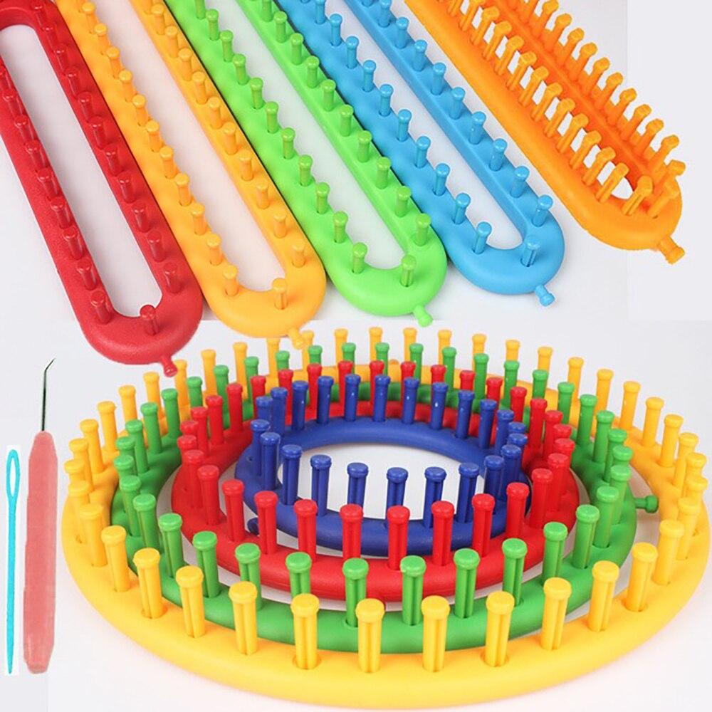 Вязальная машина, искусственный ткацкий станок, набор инструментов для рукоделия, круговое для вязания, Плетение ручной работы, шарф, носок,...