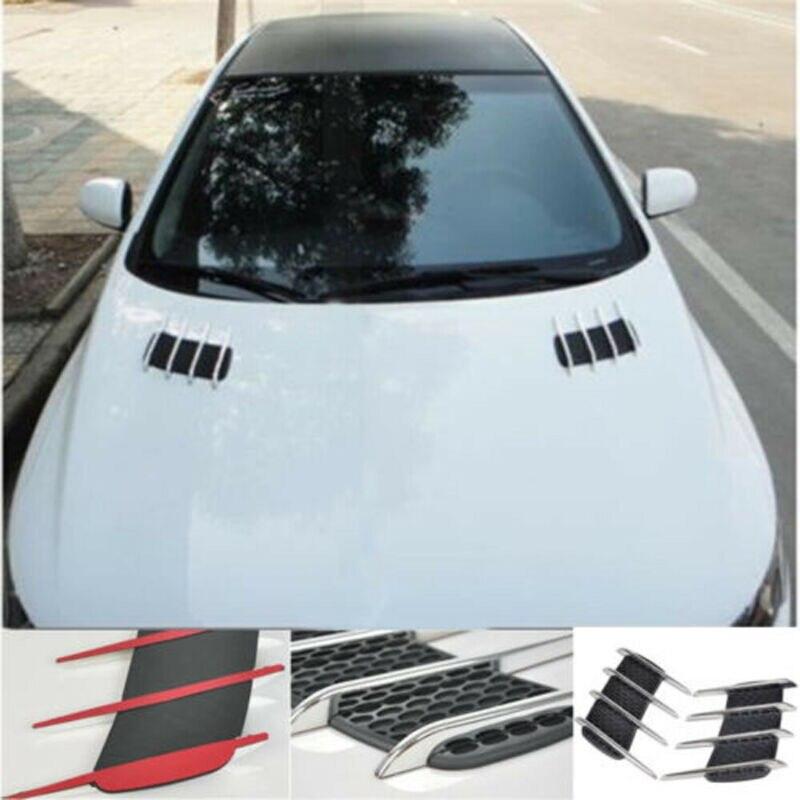 2 шт. автомобильный Стайлинг DIY Автомобиль 3D Акула Джилл боковое вентиляционное отверстие крыло крышка отверстие впускной канал поток решетка украшения стикер|Наклейки на автомобиль|   | АлиЭкспресс