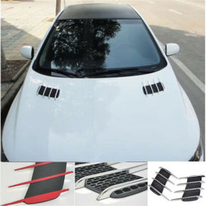 2 pcs Car Styling DIY Car 3D Shark gill Side Air Vent Fender Cover Hole Intake Duct Flow Grille Decoration Sticker