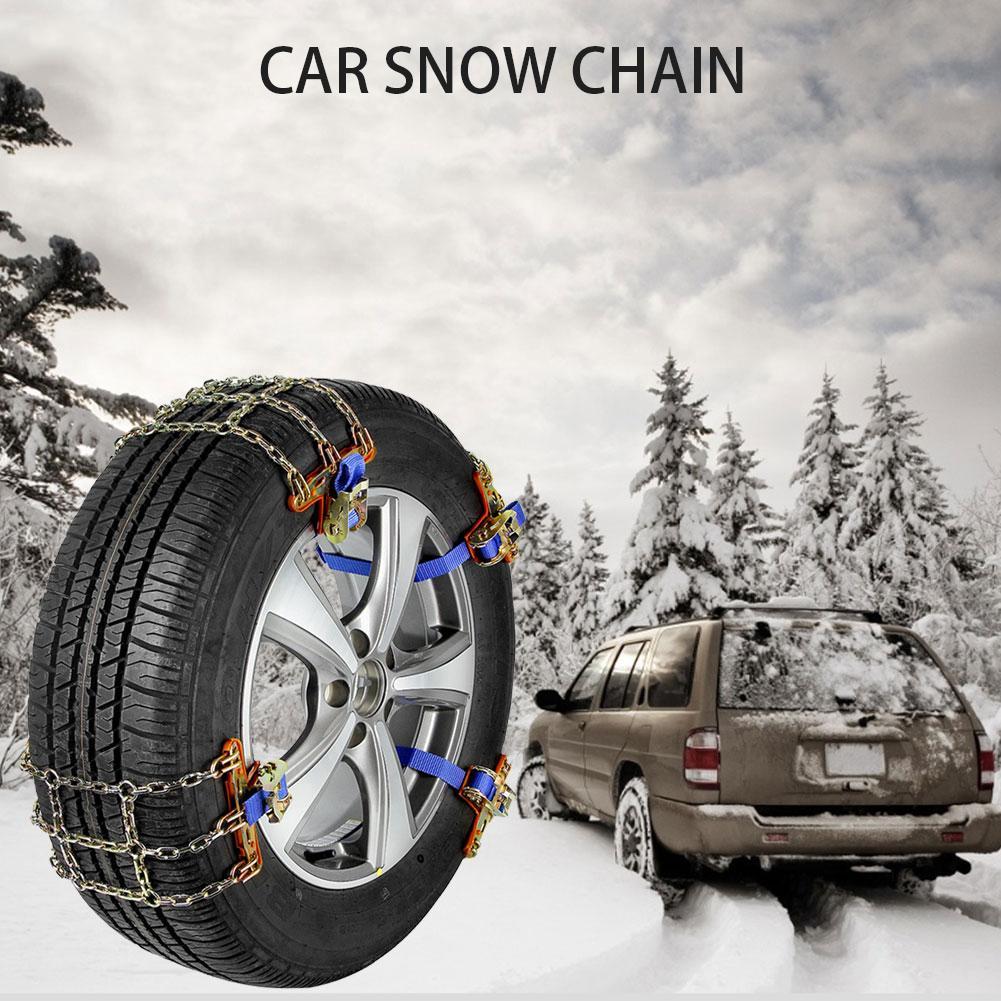 1PCS Auto Schnee Kette Notfall Anti-skid Reifen Kette Hohe Qualität Edelstahl Für SUV Pickup Lkw Eis schnee Schlammigen Straße