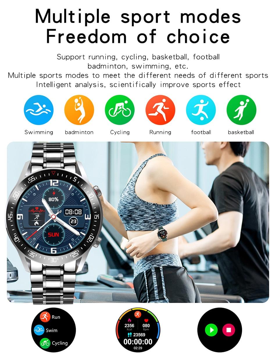 Hc881bf75b2d04bb6b1ddd12fe147a0b1e LIGE 2021 New Full circle touch screen Mens Smart Watches IP68 Waterproof Sports Fitness Watch Man Luxury Smart Watch for men