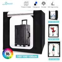 100/120/160/200cm Foldable LED Right Box Camera Photo Box Portrait Photography Softbox For Photo Studio Dimmable Shooting Carpas