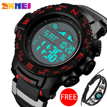 Skmei Outdoor Militer Elektronik LED Luminous Olahraga 5Bar Tahan Air Multi-Fungsi Alarm Clock Watch Man 1380(China)