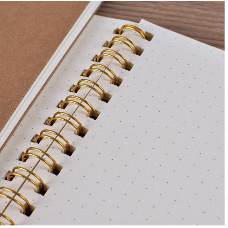 50 Sheets Blank Sketchbook Diray For Drawing Graffiti Painting Sketch Book Kraft Spiral Notebook Office School Supplies