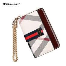 Cat 2020 new ladies bag short square wallet coin purse clutch