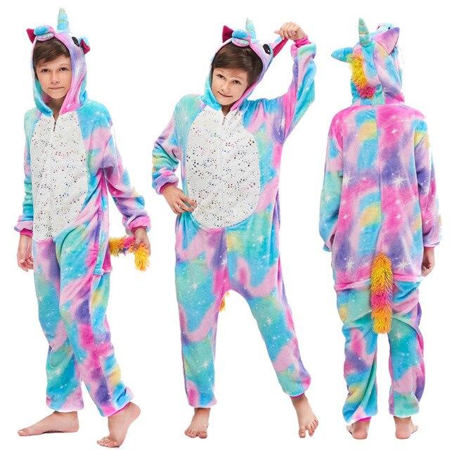 Winter Soft Kigurumi Pajamas for Girls Unicorn Pajama Funny Cosplay Costume Panda Animal Cartoon Kigurumi Pajamas Sleepwear 5