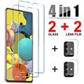 4in1 премиум класса, закаленное стекло для Samsung Galaxy A21S A51 A52 A32 5G для объектива камеры Защитная пленка для экрана для Samsung A71 A72 A41 A31 A12 A11 стекло