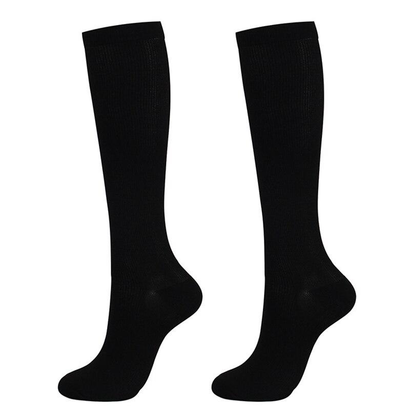 1 çift Unisex çorap diz yüksek dereceli sıkıştırma varisli damarlar naylon basıncı bacak ağrı kesici çorap kadınlar için
