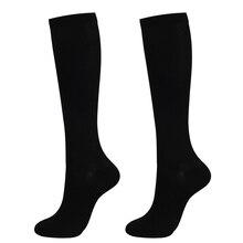 1 Pair Unisex Socks Knee High Graduated Compression Varicose Veins Nylon Pressure Leg Relief Pain Socks For Women