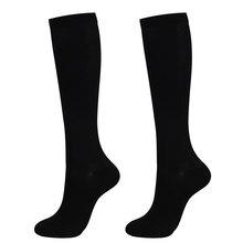 1 paire unisexe chaussettes genou haute Compression graduée varices Nylon pression jambe soulagement douleur chaussettes pour les femmes