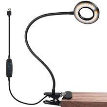Светильник для чтения книг topoch с зажимом usb 3 цветных режима