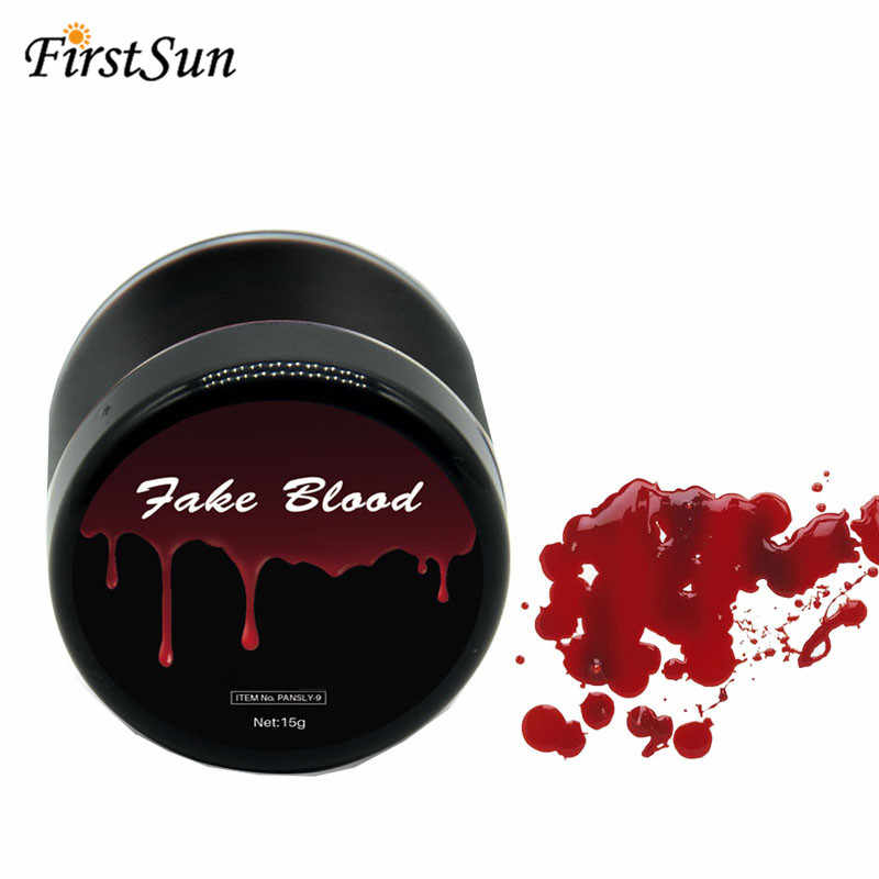เลือดปลอมแต่งหน้า Face Body Paint ฮาโลวีนปลอมบาดแผลรอยแผลเป็น Bruises จำลองมนุษย์แวมไพร์คอสเพลย์ Make Up Pigment