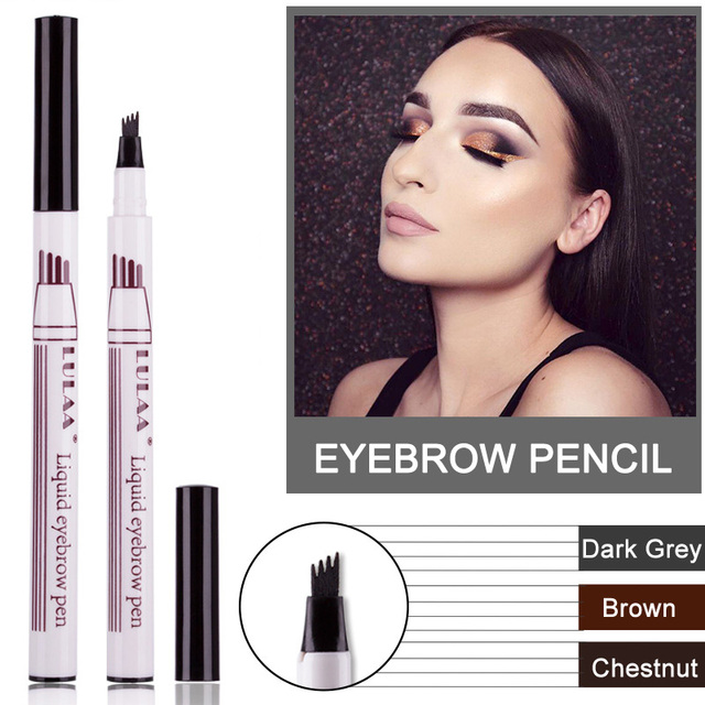 Microblading Tattoo Eyebrow Ink Pen Fork Tip Sketch Enhancer Waterproof Eye Brow Makeup Pencil Hot Mdf