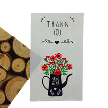 60pcs/pack THANK YOU Vase Pattern White For DIY Products Bakery Packaging Adhesive Seal Stickers