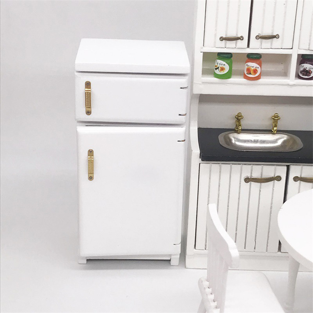 Mini Good For 1:12 Dollhouse Furniture Mini Dollhouse Furniture Refrigerator Miniature Living Room Pretend Play Toy 827
