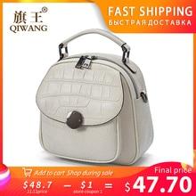 QIWANG Genuine Leather Backpack…