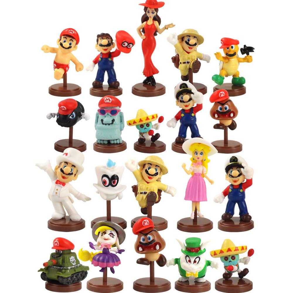 10pcs Super Mario Odyssey Figures Cappy Goomba Koopa Troopa Bullet Tank Princess Peach Model Toys Aliexpress