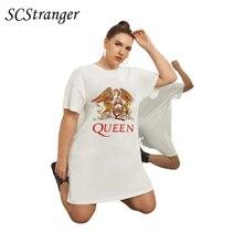 SCSTRONGER Summer Women's New T Shirt Pure White Women's Phoenix Print Round Neck Plus Size Blouse Blusas Mujer De Moda 2021