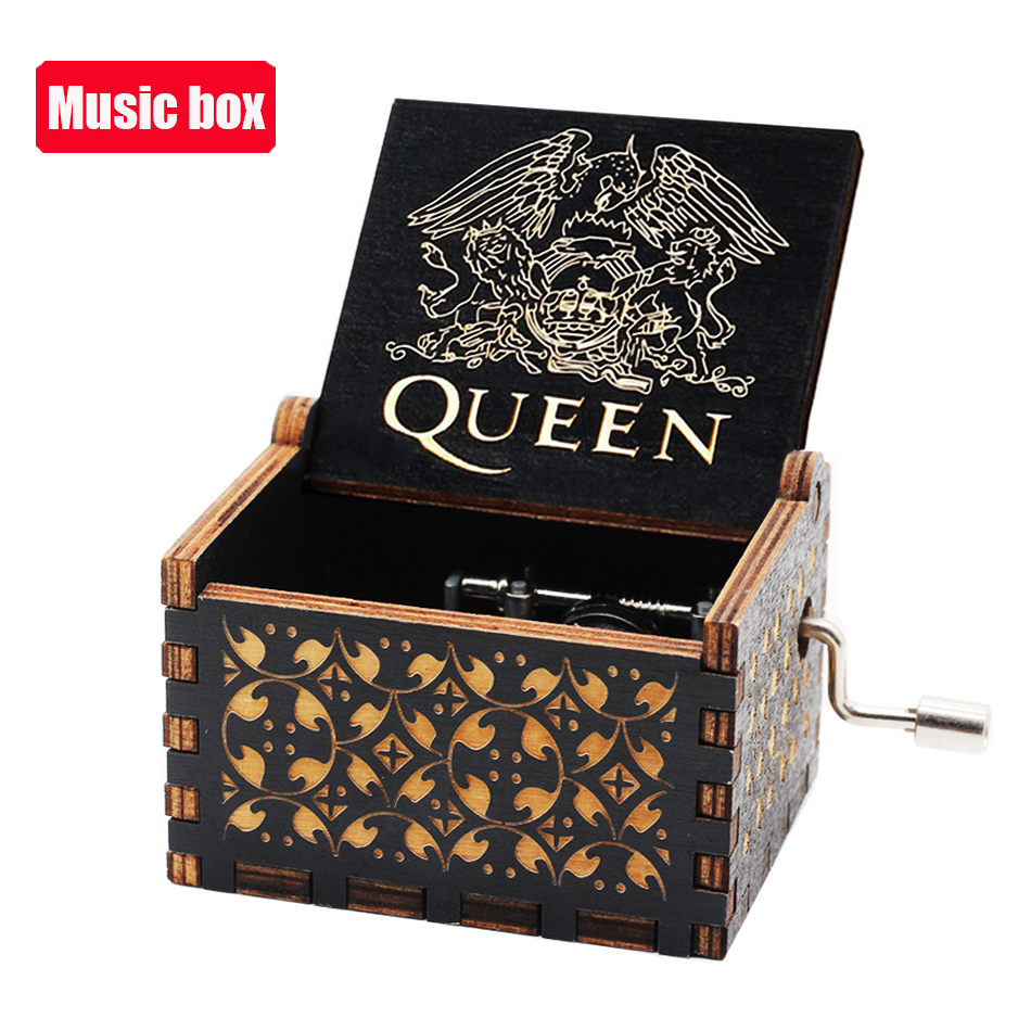 Hot Jurassic Park Hand Crank Music Box Queen  Musical for Birthday Christmas Gift Home Decor 5
