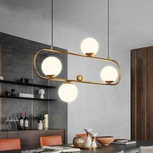 Modern Pendant Lights Restaurant Magic Nordic Creative Bar Bean Pendant Light Dining Room Living Room Glass Ball Pendant Lamp lican nordic restaurant pendant lights dining room bedroom lamp creative personality bar table lights pendant lamp home decors