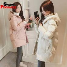 חורף נשים מעיל מזדמן מוצק עבה חם ארוך סלעית מעיילי מעילי נקבה כיס sintepon שלג מעילי M 3XL