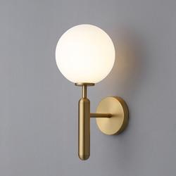 Nowoczesny szklany kinkiet złoty oświetlenie naścienne led oprawy do wystroju domu sypialnia lustro łazienkowe światła Nordic kryty oprawa E14