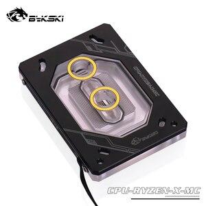 Bykski кулер для процессора используется для Ryzen 3 5 7 ThreadRipper cpu водоблок серебристый черный 12 В 4pin, 5 В 3pin свет заголовок cpu-RYZEN-X-MC
