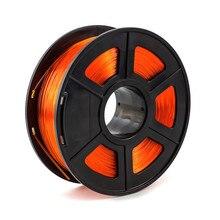 PETG Transparent Orange 1.75mm 3D Printer Filament 1kg/2.2lbs Plastic Material for FDM 3D Printer