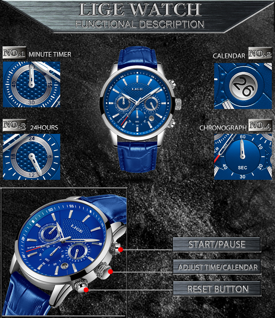 Hc883daab26e84eefb6683f53150856adG LIGE Fashion Mens Watches Top Brand Luuxury Blue Quartz Clock Male Casual Leather Waterproof Sport Chronograph Relogio Masculino