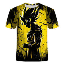 Dragon Ball Z Camiseta Homens Verão super vegeta  Fit Cosplay 3D Ultra-clear character Camisetas Tshirt Homme