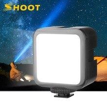 مصباح فيديو LED صغير محمول 6500K من shot مزود بـ 3 مصابيح مضيئة للحذاء البارد لكاميرا GoPro Canon Nikon للهواتف الذكية لـ Tiktok YouTube