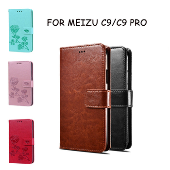 Перейти на Алиэкспресс и купить Чехол для телефона для Meizu C9 с узором флип-чехол для телефона для Meizu C9 PRO Coque Funda из искусственной кожи кожаный бумажник Capas