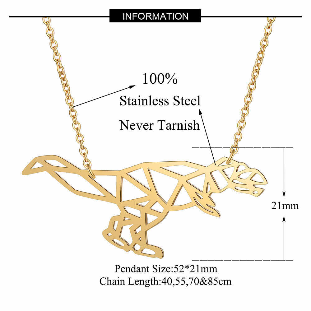 Amazing Dinosaur Necklace LaVixMia Italy Design 100% Stainless Steel Necklaces for Women Super Fashion Jewelry Special Gift